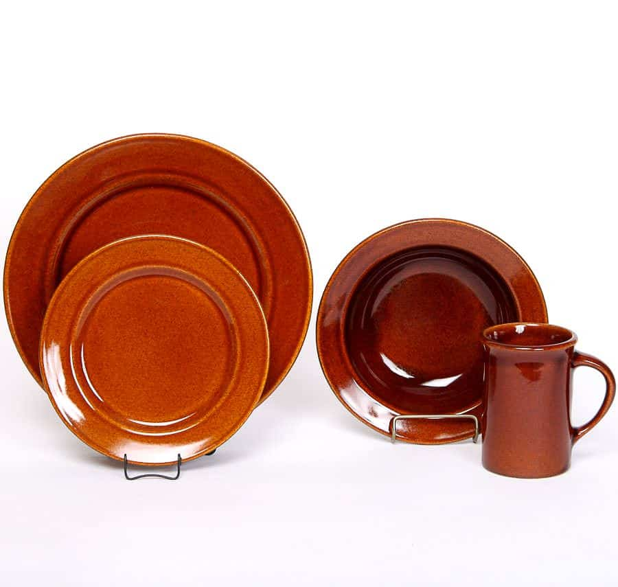 Copper Clay Classic Dinner Plate Set for One