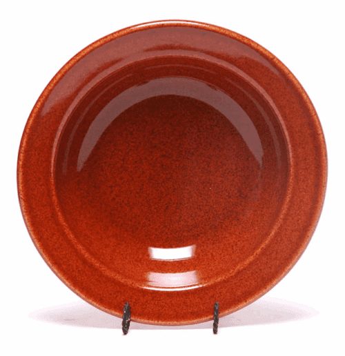 Copper Clay Soup Bowl