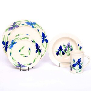 Field of Iris Classic Dinner Plate Set for One