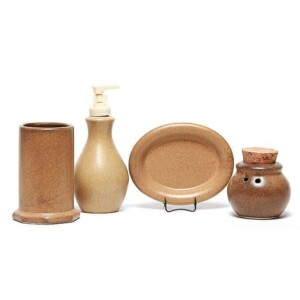 Go Green Earthware Bathroom Set