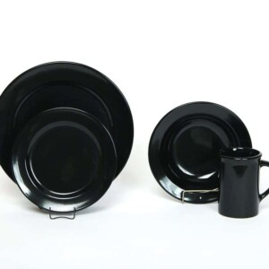 Onyx Black Classic Dinner Plate Set for One