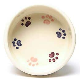 Round Prints Small Pink Pet Bowl