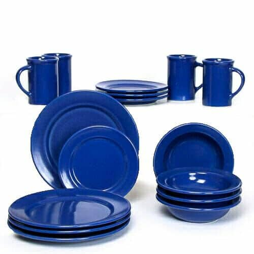 American Blue Classic Dinner Plate Set for Four
