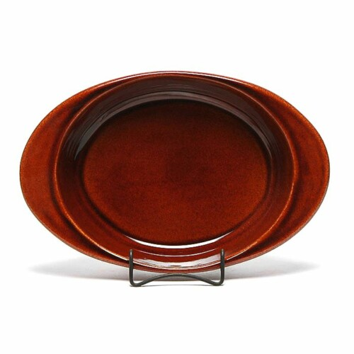 Copper Clay Large Casserole Dish