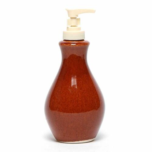 Copper Clay Soap/Lotion Bottle