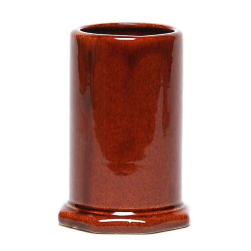 Copper Clay Toothbrush Holder