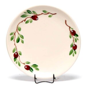 Cranberry Coupe Salad Plate