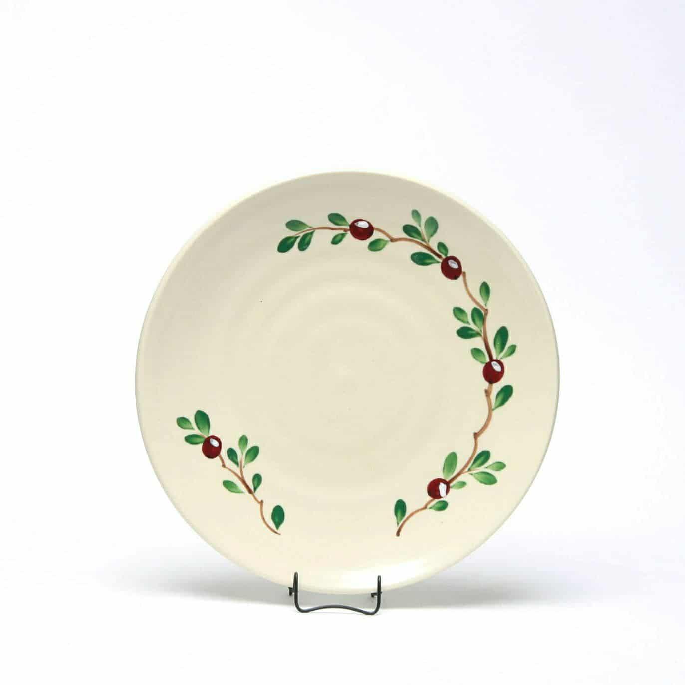Cranberry Craftline Salad Plate