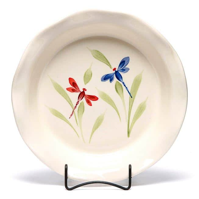 Dragonfly Frilly Pie Plate
