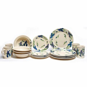 Field of Iris Classic Dinner Plate Set for Four
