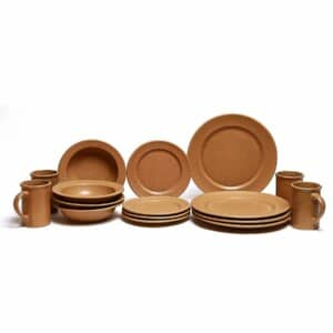 Go Green Earthware Classic Dinner Plate Set for Four