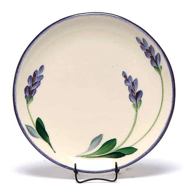 Lavender Salad Coupe Plate