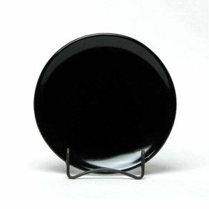 Onyx Black Coupe Salad Plate