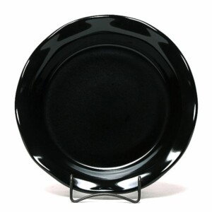 Onyx Black Frilly Pie Plate