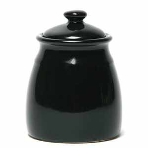 Onyx Black Sugar Jar