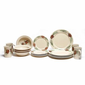 Pinecone Classic Dinner Plate Set for Four