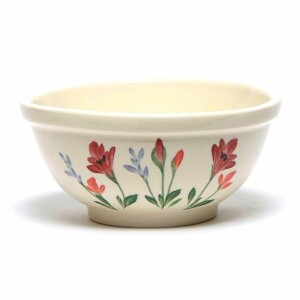 Red Poppy Cereal Bowl