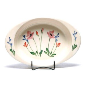 Red Poppy Large Casserole Dish