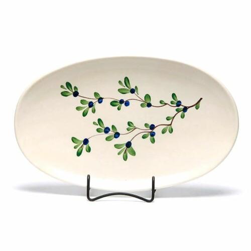 Blueberry Oval Platter
