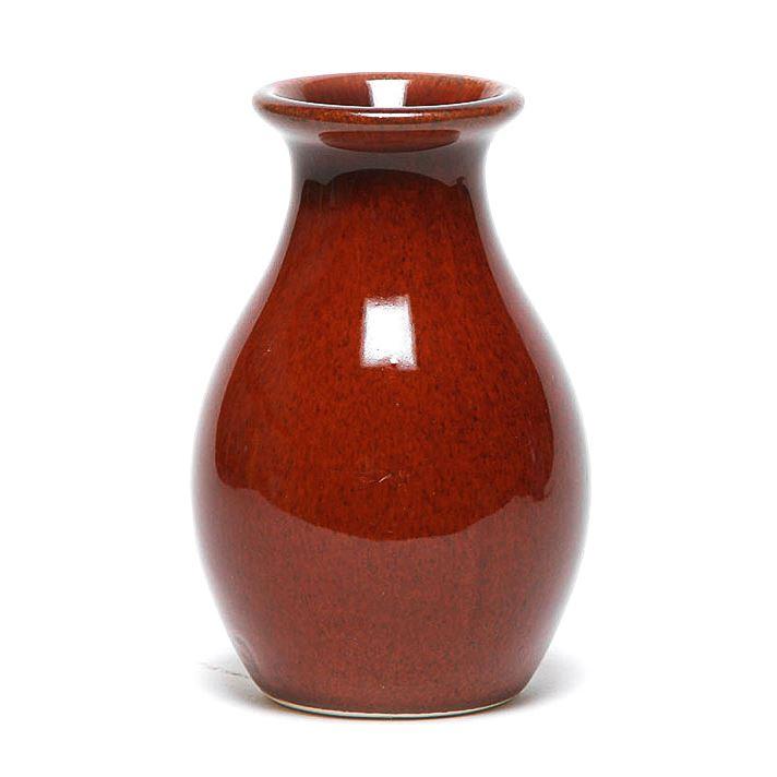 Copper Clay Bud Vase
