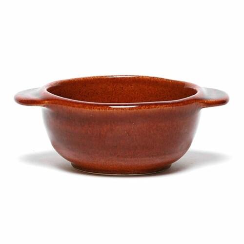 Copper Clay Onion Soup Crock