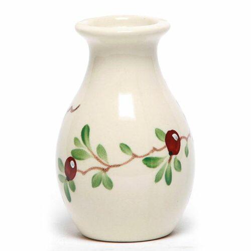 Cranberry Bud Vase