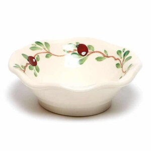 Cranberry Little Frilly Bowl