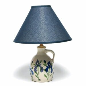 Field of Iris Jug Lamp