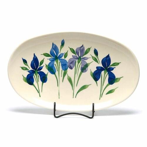 Field of Iris Oval Platter
