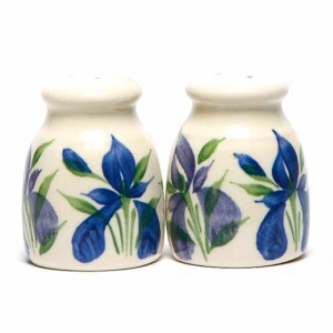 Field of Iris Salt and Pepper Shaker Set