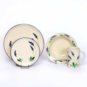 Lavender Coupe Dinner Plate Set for One