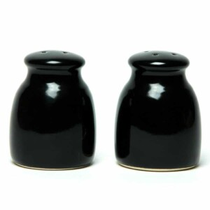 Onyx Black Salt and Pepper Shaker Set