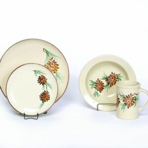 Pinecone Coupe Dinner Plate Set for One