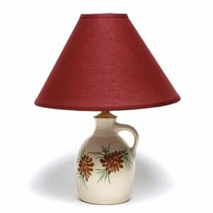Pinecone Jug Lamp