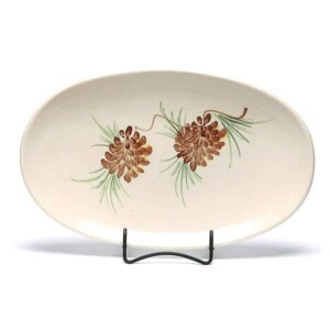 Pinecone Oval Platter
