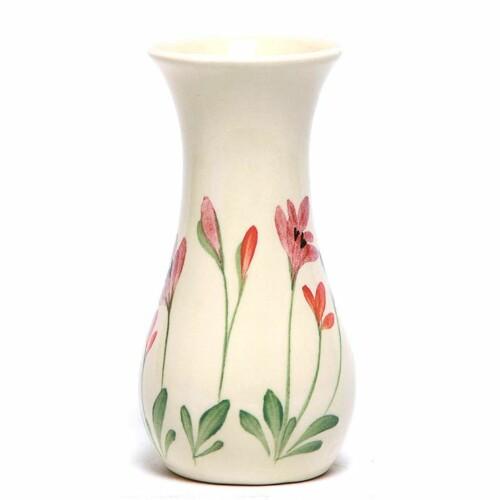 Red Poppy Bouquet Vase