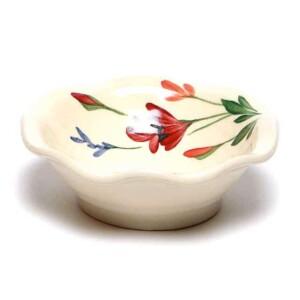 Red Poppy Little Frilly Bowl