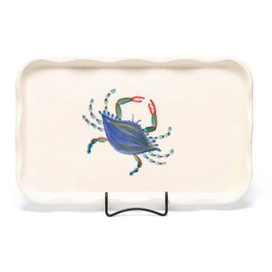 Blue Crab Large Frilly Tray