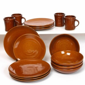 Copper Clay Craftline Dinner Plate Set for Four