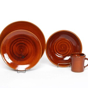 Copper Clay Craftline Dinner Plate Set for One