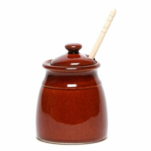 Copper Clay Honey Pot