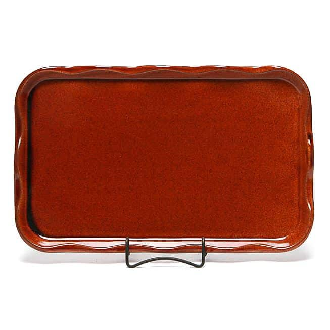 Copper Clay Large Frilly Tray