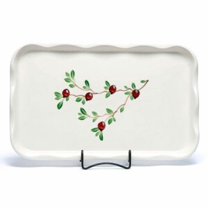 Cranberry Large Frilly Tray