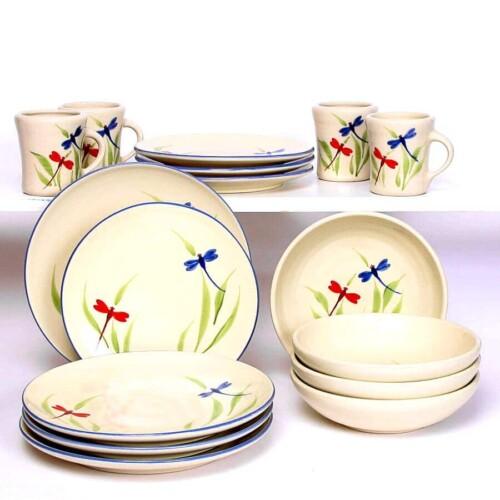 Dragonfly Craftline Dinner Plate Set for Four