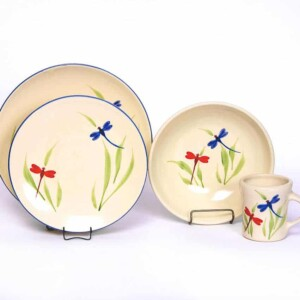 Dragonfly Craftline Dinner Plate Set for One