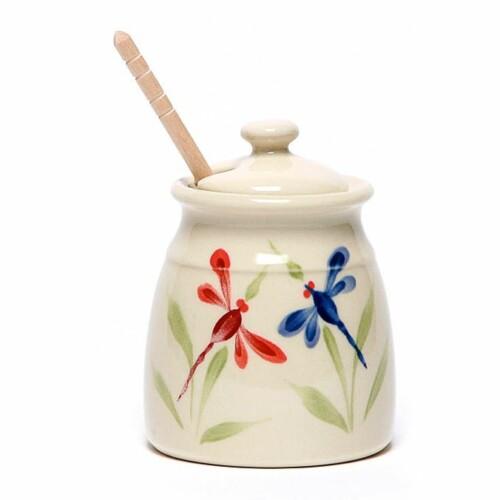 Dragonfly Honey Pot