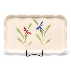Dragonfly Large Frilly Tray