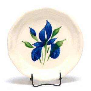 Field of Iris Oil Dipping Dish/Coaster