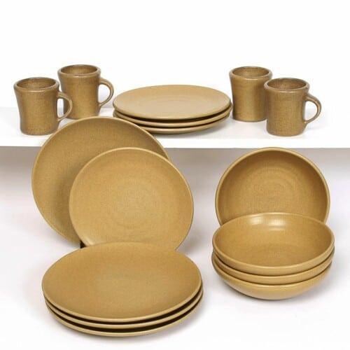 Go Green Earthware Craftline Dinner Plate Set for Four