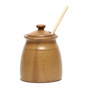 Go Green Earthware Honey Pot
